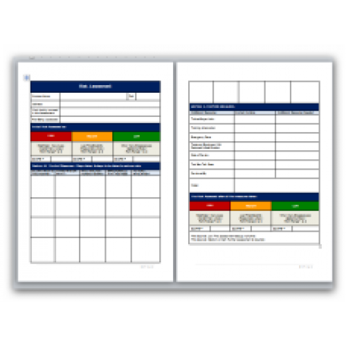 Blank Method Statement and Risk Assessment Template Pack – Method of Statement Sample